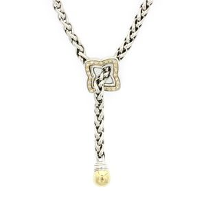David Yurman 18K Gold & Silver Diamond Necklace